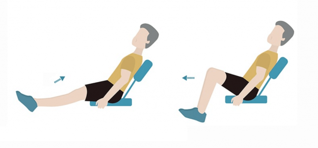 seated knee to chest