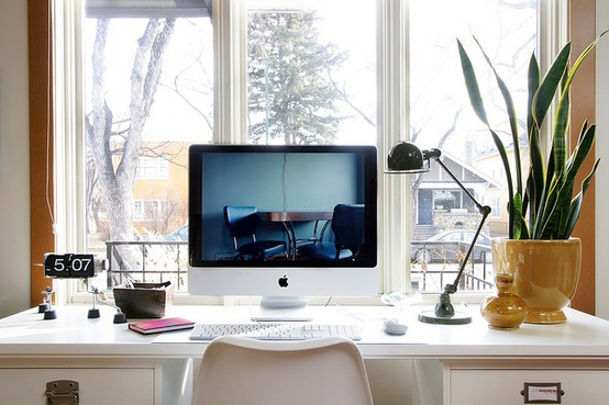 desk at window- work from home